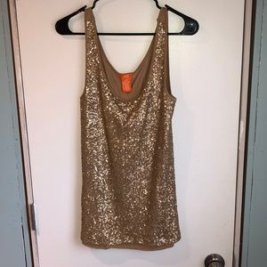 3/15$ Sparkly gold tank top